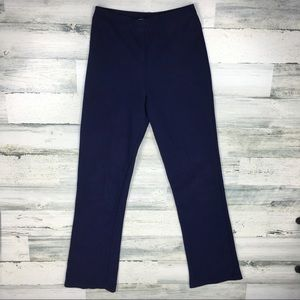 Vintage 90s Navy Blue Flared Pants Medium